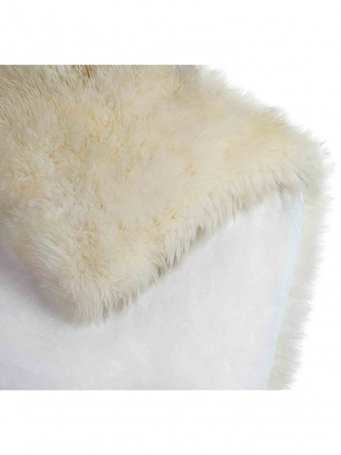 Tapete Pele de Carneiro Branco
