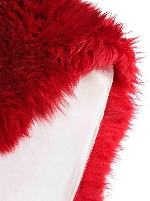 Tapete Pele de Carneiro Vermelho