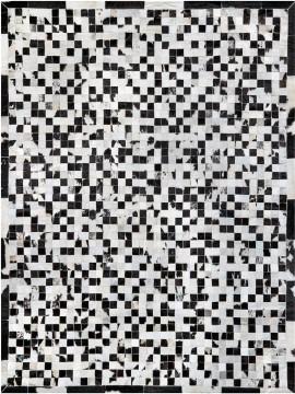 Tapete Couro Preto e Branco Malhado (5x5)