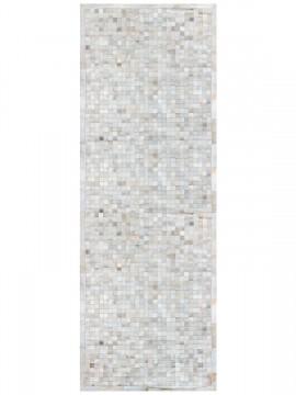 Passadeira Couro Branco com Borda (5x5)