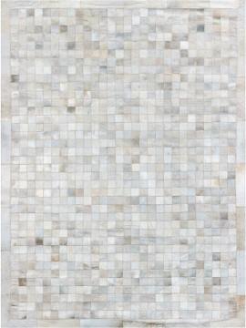 Tapete Couro Branco com Borda (5x5)