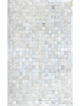 Tapete Couro Branco com Borda (10x10)