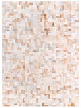 Tapete Couro Branco e Bege Malhado (5x10)