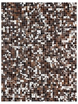 Tapete Couro Café e Branco Malhado (5x5)
