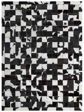 Tapete Couro Preto e Branco com Borda (10x10)
