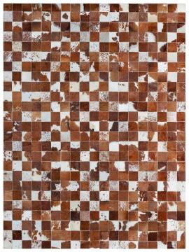 Tapete Couro Marrom e Branco Malhado (10x10)