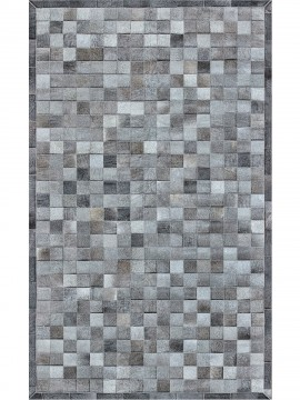 Tapete Couro Cinza Exótico com Borda (10x10)