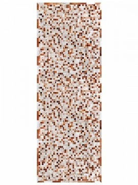 Tapete Couro Marrom e Branco Malhado com Borda (5x5)